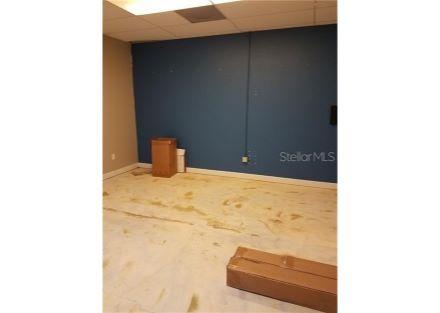 Multipurpose back room, left wall.