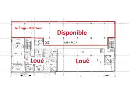 plan 3e etage