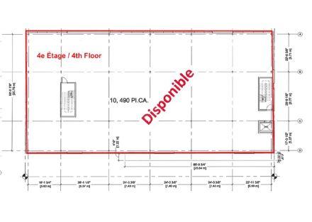 plan 4e etage
