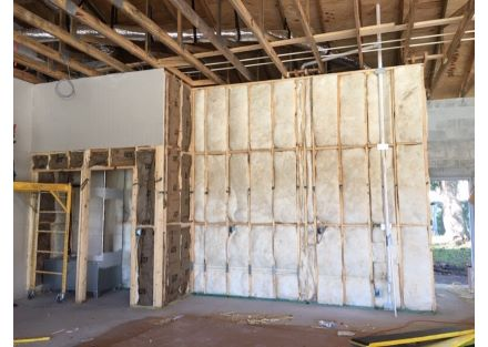 Drywall going up