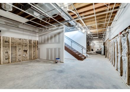 Interior View of Large Finished Basement Level
