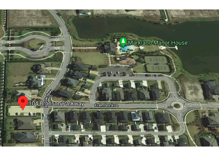 104 Bronson Pkwy showing proximity to clubhouse