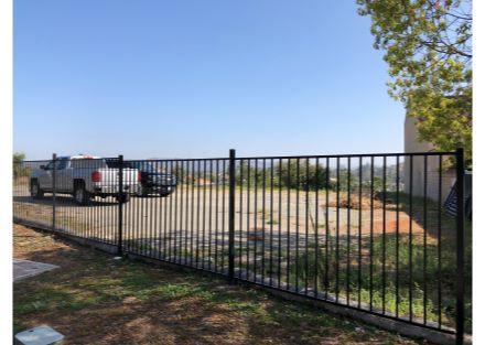 Fenced lot