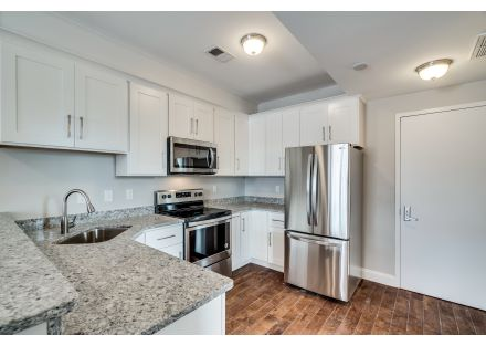 Interior View of Kitchen in Rear Apartment