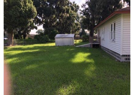 Back yard and ramp
