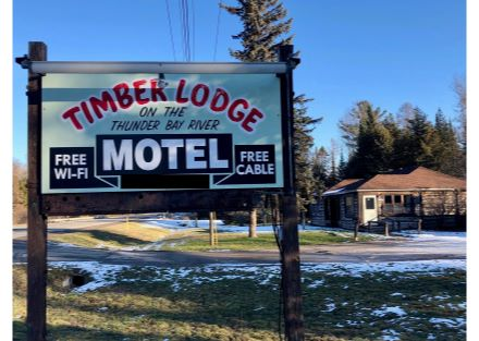 Road Sign - Timber Lodge, 3294 vehicles