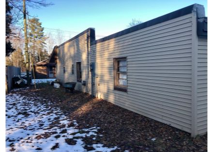 West-Side of Property, Cabin in Backgrou