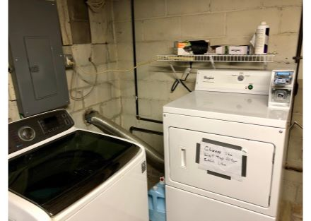 Laundry in Unit 8